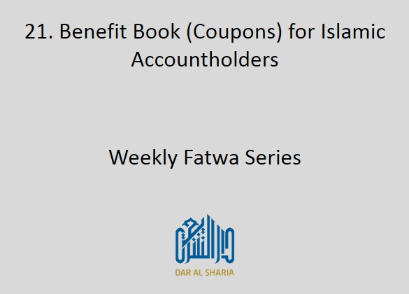 Benefit Book (Coupons) for Islamic Accountholders