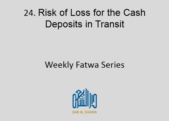 Risk of Loss for the Cash Deposits in Transit