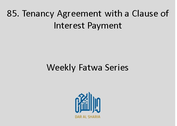Tenancy Agreement with a Clause of Interest Payment
