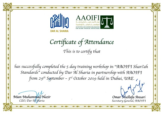 Dar Al Sharia successfully completed the second workshop on 'AAOIFI Sharia Standards'