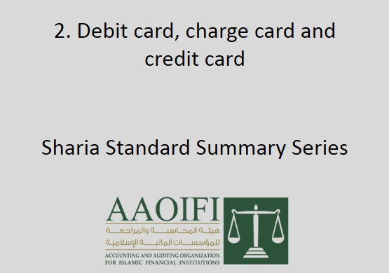 Debit card, charge card and credit card
