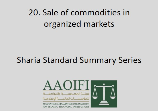 Sale of commodities in organized markets