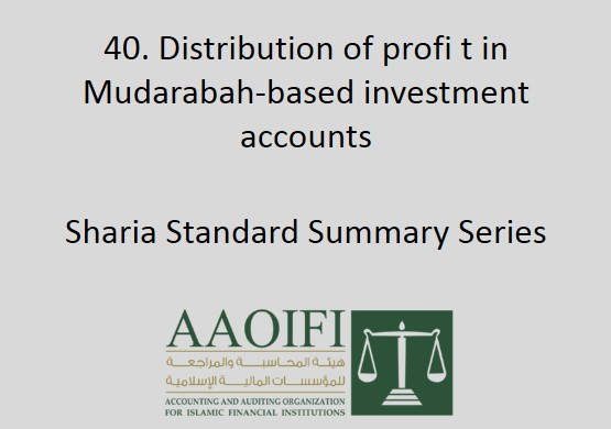 Distribution of profit in Mudarabah-based investment accounts