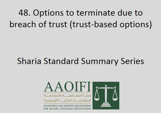 Options to terminate due to breach of trust (trust-based options)