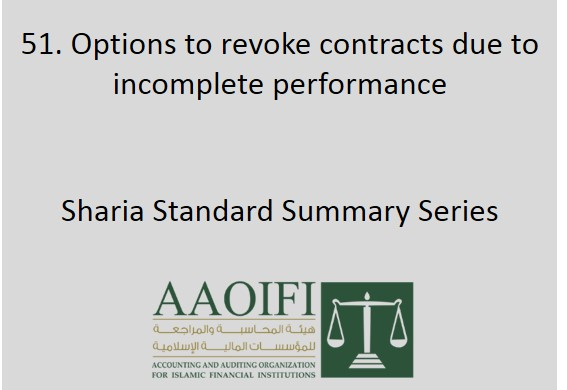 Options to revoke contracts due to incomplete performance